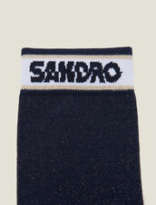 Lurex Socks With Sandro Logo : Socks color Navy Blue