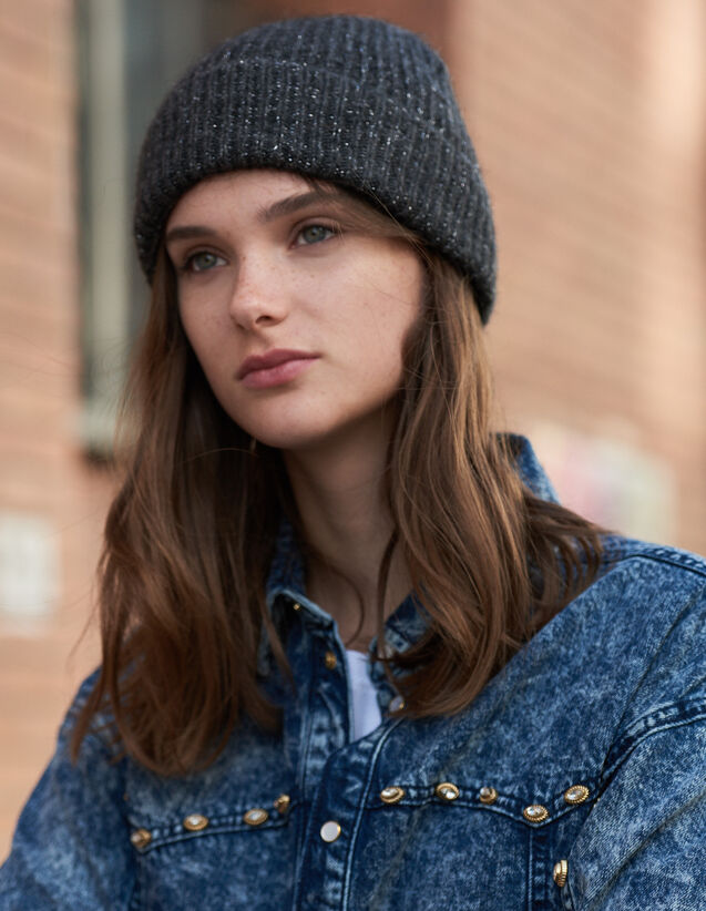 Lurex Beanie : All Winter collection color Black