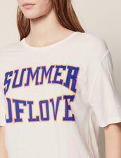 T-Shirt With Cut-Outs On The Shoulders : LastChance-FR-FSelection color white