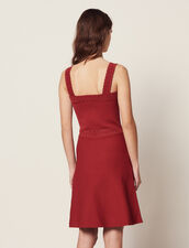 Knit Dress With Straps : null color Terracotta