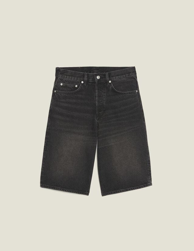 Denim Bermuda Shorts : Pants & Shorts color Black