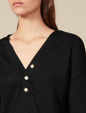Long-Sleeved Linen T-Shirt : FBlackFriday-FR-FSelection-30 color Black