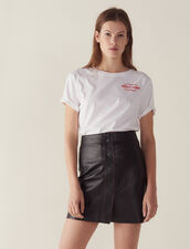 A-Line Leather Skirt : Skirts & Shorts color Black