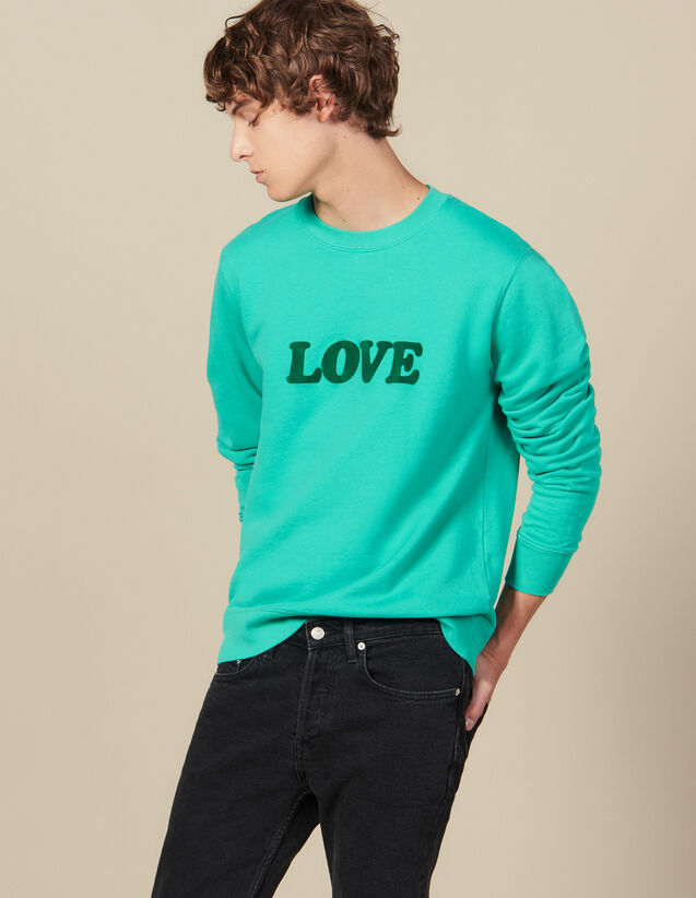 Sweatshirt With Lettering : All Winter collection color Light Green