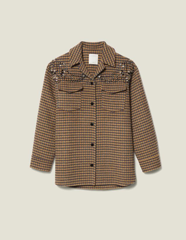 Oversized Checked Shirt Jacket : LastChance-ES-F40 color Multi-Color