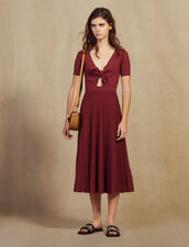 Openwork Knit Midi Dress : null color Land of Fire