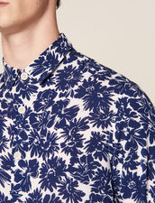 Flower Shirt : Shirts color Navy Blue