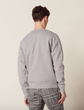 Cotton Sweatshirt With Lettering : SOLDES-CH-HSelection-PAP&ACCESS-2DEM color Mocked Grey