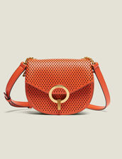 Pépita Punched Leather Bag, Small Model : null color Camel