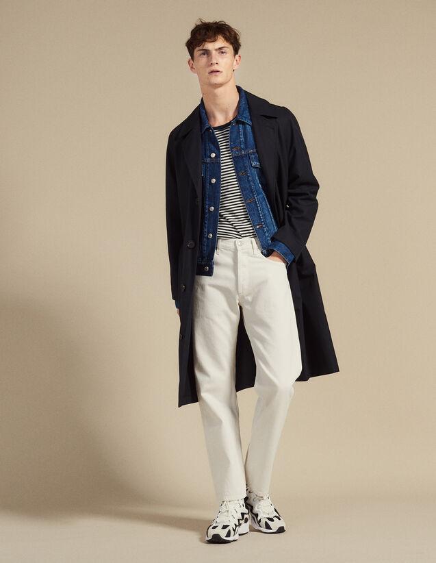 Long Cotton Trench Coat : SOLDES-CH-HSelection-PAP&ACCESS-2DEM color Beige
