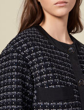 Oversized quilted tweed jacket : Blazers & Jackets color Navy Blue