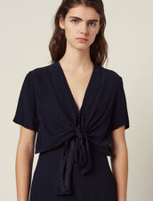 Flowing Jumpsuit : null color Navy Blue