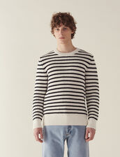 Breton Sweater With Fancy Rib : SOLDES-CH-HSelection-PAP&ACCESS-2DEM color Ecru
