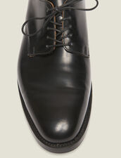 Leather Derby Shoe : Winter Collection color Black