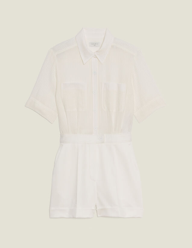 Playsuit With 2-In-1 Effect : Skirts & Shorts color Ecru