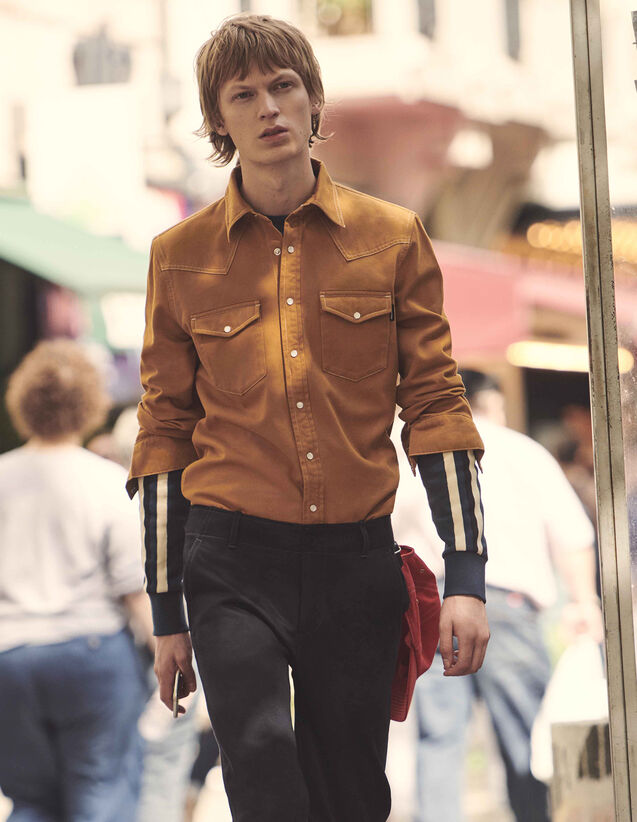 Cotton Fabric Shirt : All Ready-to-wear color Ochre
