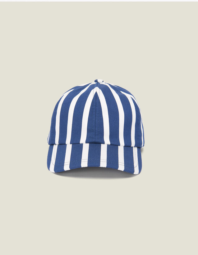 Cap With Contrasting Stripes : Caps color Red