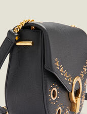 Pépita Bag, Medium Model With Studs : All Winter collection color Black