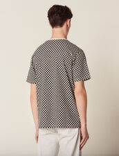 Chequerboard Cotton T-Shirt : All Ready-to-wear color Black