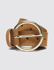 Leather Belt : New In color Dark Navy