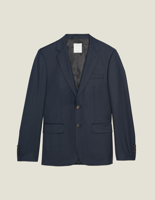 Wool Suit Jacket : Suits & Tuxedos color Pétrol Blue