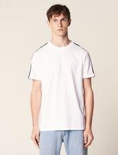 T-Shirt With Striped Braid Trim : LastChance-RE-HSelection-Pap&Access color white