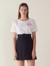 Short A-Line Skirt : null color Navy Blue