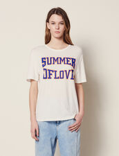 T-Shirt With Cut-Outs On The Shoulders : null color white