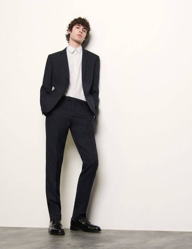 Suit trousers : Suits & Tuxedos color Navy Blue