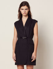 Dress With Tailor'S Collar : Dresses color Black