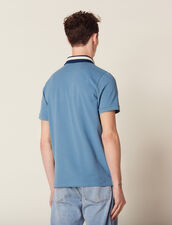 Cotton Polo Shirt With Varsity Collar : All selection color white