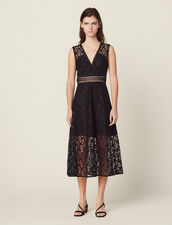 English guipure lace midi dress : Copy of VP-FR-FSelection-Robes color Black