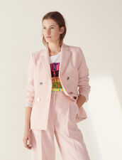 Matching Tailored Jacket : null color Pink