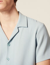 Striped Jersey Shirt : SOLDES-CH-HSelection-PAP&ACCESS-2DEM color Sky Blue