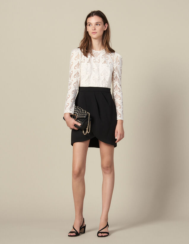 Trompe l œil dress : Dresses color Black