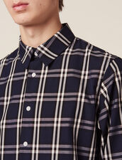 Long-Sleeved Tartan Shirt : Sélection Last Chance color Navy Blue