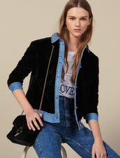 Quilted Velvet Jacket : Blazers & Jackets color Black