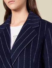 Long Double Faced Coat : Copy of VP-FR-FSelection-Blousons&Manteaux color Navy Blue