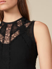 Dress with lace inserts : FBlackFriday-FR-FSelection-30 color Black