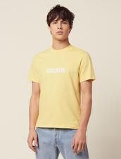 Cotton T-Shirt With Lettering : SOLDES-CH-HSelection-PAP&ACCESS-2DEM color Light Yellow