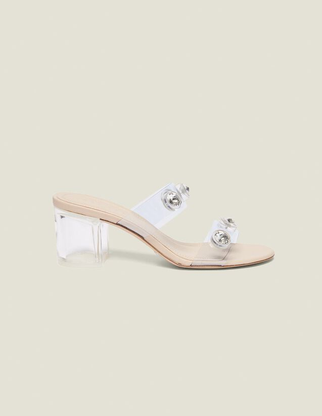 Pvc Mules With Straps : null color Transparent