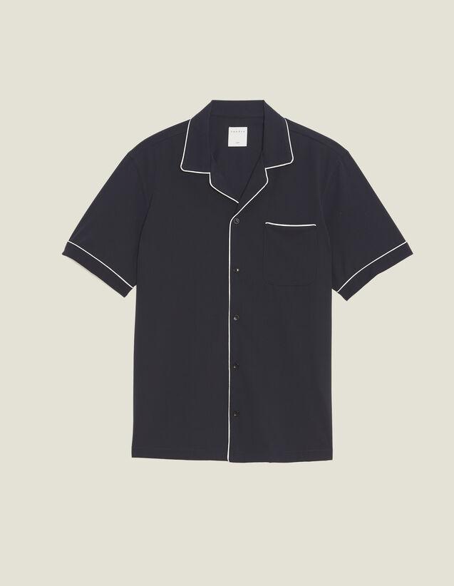 Asymmetrical Pyjama-Style Shirt : Sélection Last Chance color Navy Blue