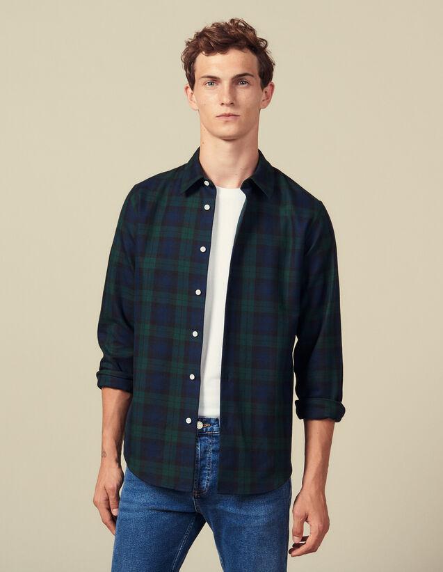 Tartan Shirt : All Winter collection color Dark green