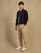 Cotton Trousers With Elasticated Waist : Sélection Last Chance color Beige