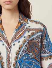 Printed Pyjama Shirt : Tops & Shirts color Multi-Color