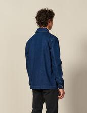Denim Workwear Jacket : Winter Collection color Blue Vintage - Denim