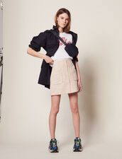 Short Tweed Skirt : LastChance-FR-FSelection color Pink