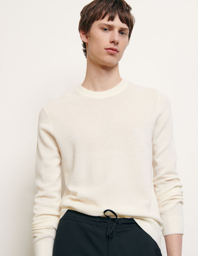 Bioche-stitch sweater : Sweaters & Cardigans color Charcoal Grey