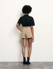 Tweed shorts : Skirts & Shorts color Beige