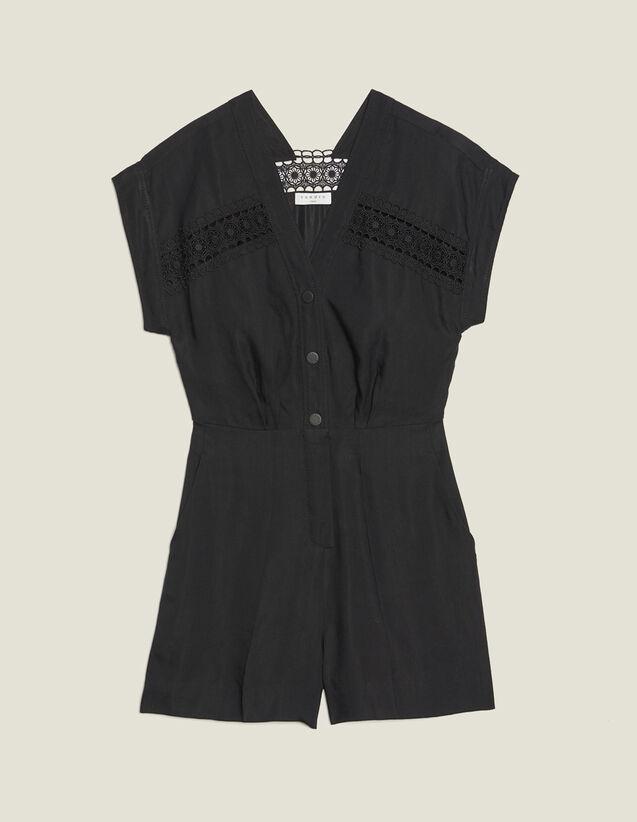 Sleeveless Playsuit : Jumpsuits color Black